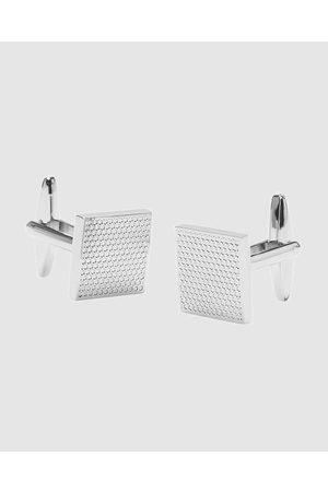 Buckle Nickel Brushed Cufflinks - Ties & Cufflinks Nickel Brushed Cufflinks