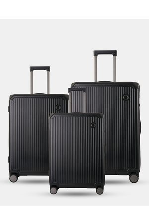 Echolac Japan Dublin 3 Piece Set - Travel and Luggage (BLK) Dublin 3 Piece Set