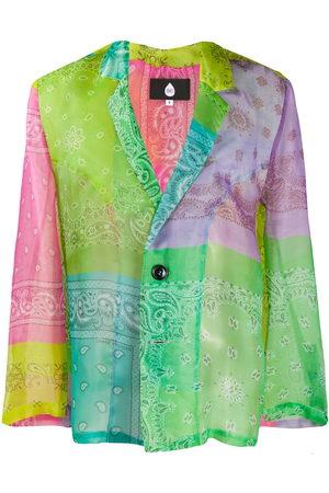 DUOltd Men Blazers - Paisley colour-block blazer
