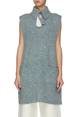 SWAYING Women Tank Tops - Sleeveless melange wool knit vest