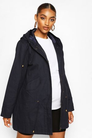 Boohoo Maternity Parka Coat- Navy