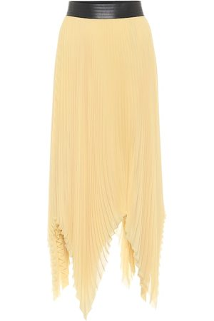 Loewe Pleated georgette asymmetric midi skirt