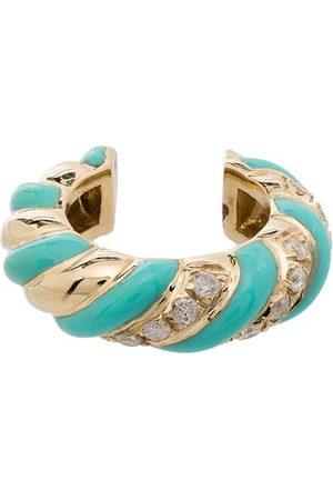 YVONNE LÉON Women Earrings - 9kt , turquoise and diamond ear cuff