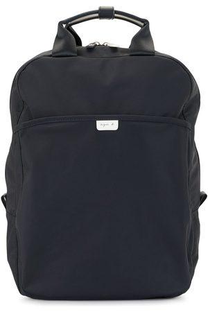 AGNÈS B. Logo-patch backpack