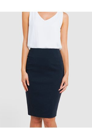 Forcast Rose Pencil Skirt - Pencil skirts (Navy) Rose Pencil Skirt