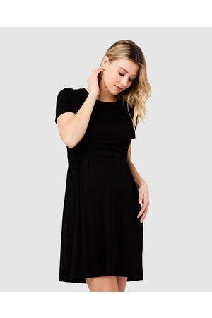 Ripe Maternity Rib Crop Top Nursing Dress - Dresses Rib Crop Top Nursing Dress