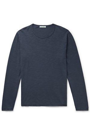 ALEX MILL Men Long Sleeve - Standard Slub Cotton-Jersey T-Shirt