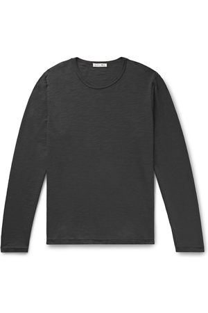 ALEX MILL Men Long Sleeve - Standard Slub Cotton-Jersey T-Shirt