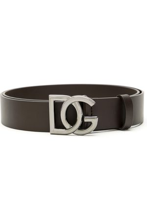Dolce & Gabbana Logo plaque buckle belt