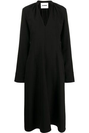 Jil Sander Women Midi Dresses - V-neck midi dress