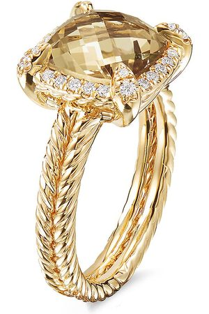 DAVID YURMAN Women Rings - Châtelaine' diamond citrine 18k yellow gold ring