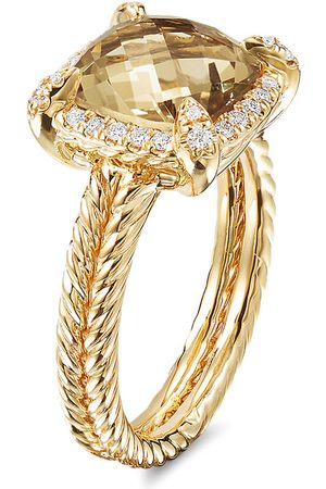 David Yurman Women Rings - Châtelaine' diamond garnet 18k yellow gold ring