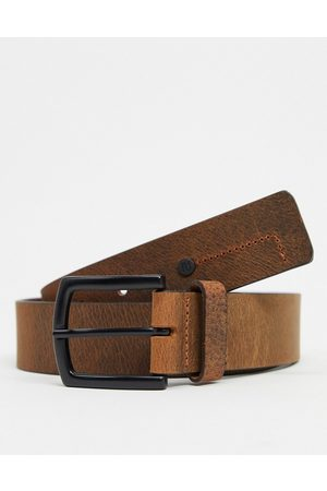 River Island Leather Belt In Brown-Tan