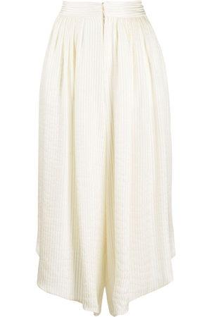 Etro Lurex-stripe silk culottes