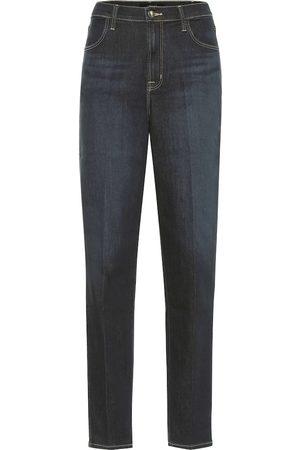 J Brand Mia high-rise slim jeans