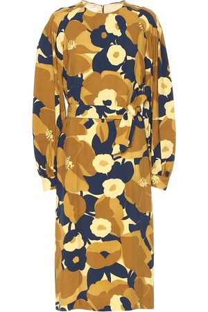 DRIES VAN NOTEN Floral midi dress