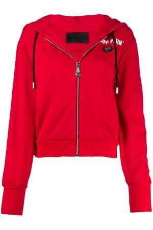 Philipp Plein Zip-up logo print hoodie