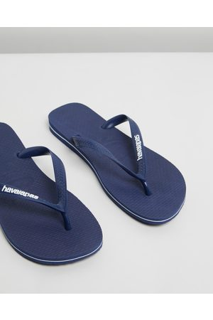 Havaianas Thongs - Rubber Logo Unisex - All thongs (Navy & ) Rubber Logo - Unisex