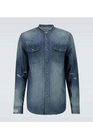 Balmain Vintage embroidered denim shirt