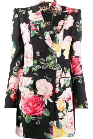 Philipp Plein Women Blazers - Floral print double-breasted blazer