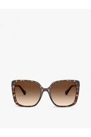 Bvlgari BV8225B tortoiseshell acetate square-frame sunglasses