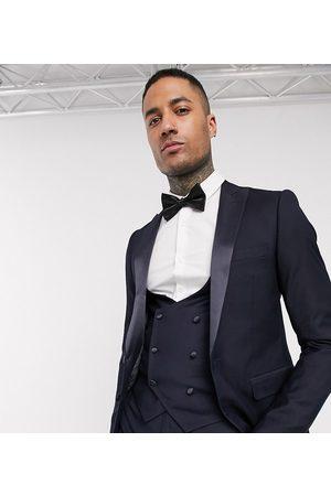 Devils Advocate Men Suits - Tall skinny fit tuxedo suit jacket