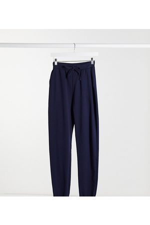 ASOS ASOS DESIGN Tall basic jogger with tie in organic cotton in navy-Blue