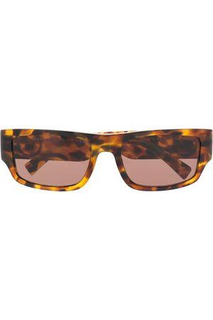 VERSACE Tortoiseshell-effect Medusa sunglasses