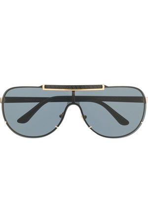 Versace Eyewear Men Sunglasses - Logo-detail tinted aviator sunglasses