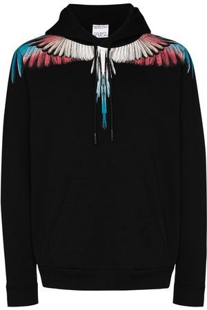 MARCELO BURLON Men Hoodies - Wings print hoodie