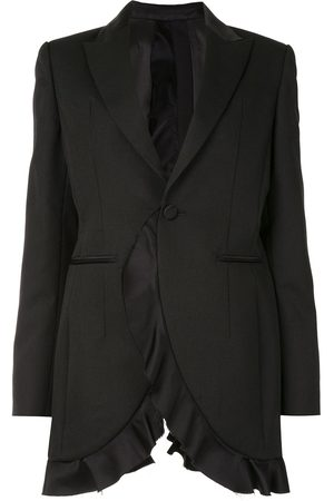 UNDERCOVER Ruffle-trimmed open-back blazer