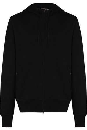 Y-3 Cotton jersey zip-up logo hoodie
