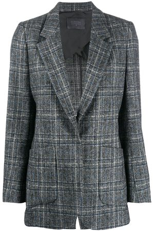 LORENA ANTONIAZZI Checked single-breasted blazer