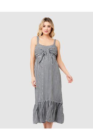 Ripe Maternity Gingham Nursing Dress - Dresses ( / ) Gingham Nursing Dress