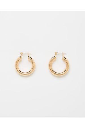 Luv AJ The Baby Amalfi Tube Hoop Earrings - Jewellery (Rose ) The Baby Amalfi Tube Hoop Earrings