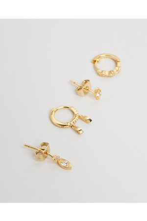 Luv AJ ICONIC EXCLUSIVE The Nazar Huggies + Studs Earring Set - Jewellery ICONIC EXCLUSIVE - The Nazar Huggies + Studs Earring Set