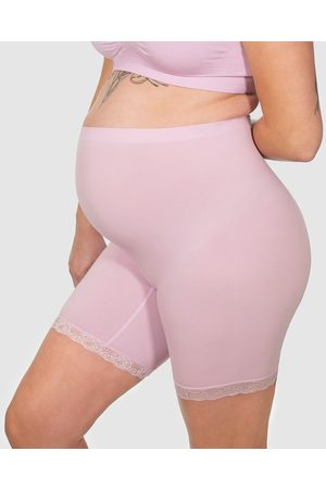 B Free Maternity Anti Chafing Cotton Shorts - Briefs (Lilac Snow) Maternity Anti-Chafing Cotton Shorts