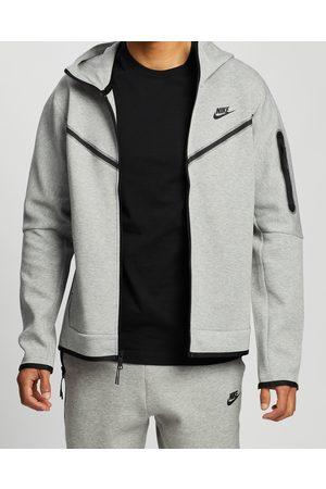 Nike Sportswear Tech Fleece Full Zip Hoodie Men's - Hoodies (Dk Heather/ ) Sportswear Tech Fleece Full-Zip Hoodie - Men's
