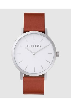 The Horse The Original - Watches (Polished Steel / Face / Tan Leather Strap) The Original