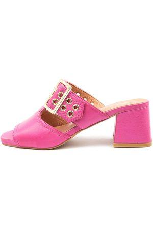 Django & Juliette Marli Dj Fuchsia Sandals Womens Shoes Casual Heeled Sandals