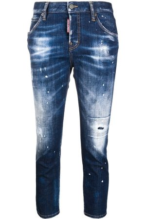 Dsquared2 Cropped distress jeans