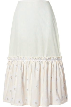 Solid 3/4 length skirts
