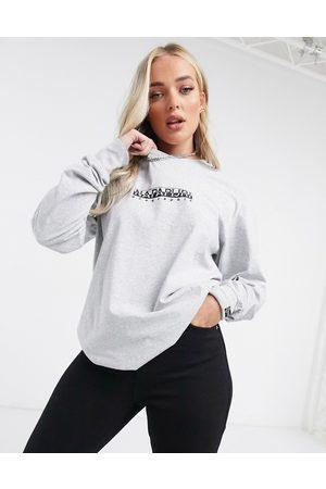 Napapijri Box long sleeve t-shirt in grey