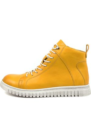 EOS Women Ankle Boots - Clarrie Eo Mustard Boots Womens Shoes Comfort Ankle Boots