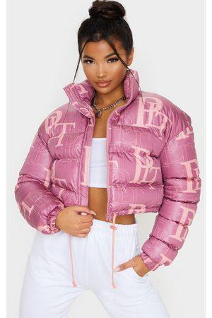 PRETTYLITTLETHING Crop Puffer Jacket
