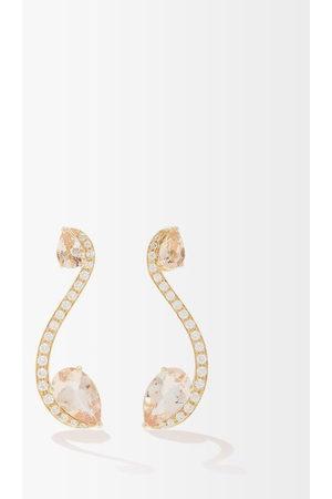 Anissa Kermiche Sissi Diamond, Morganite & 18kt Earrings - Womens