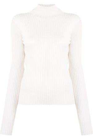 DION LEE Backless ribbed-knit jumper
