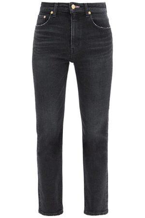 TU ES MON TRESOR Rose Quartz Cropped Slim-leg Jeans - Womens