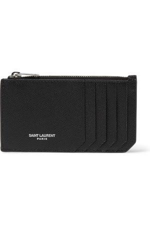 SAINT LAURENT Men Wallets - Pebble-Grain Leather Cardholder