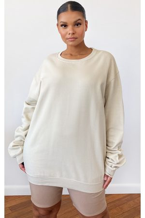 PRETTYLITTLETHING Plus Sand Ultimate Oversized Sweater